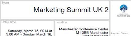 Marketing Summit Ticket