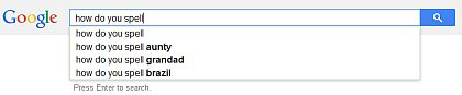 Google spell search