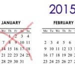 January crossed off calendar