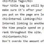 On Page SEO H1 tags