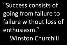 Churchill success quote