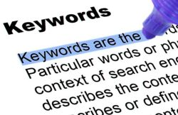 Keyword definition highlighted