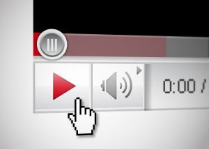 Video player with mouse cursor